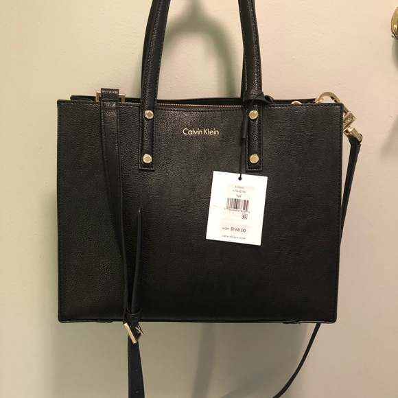 d74b0369ee81 👛NWT Calvin Klein Novelty Tote (H7GAZ7KK) Black